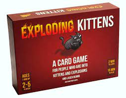 Amazon.com: Exploding Kittens Card Game - Family-Friendly Party Games -  Card Games for Adults, Teens & Kids: Toys & Games